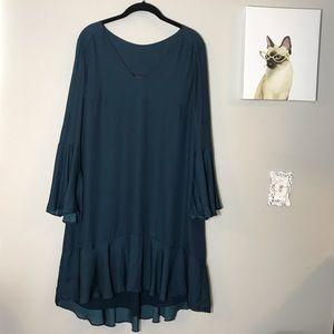 Maeve - Anthropologie Navy Flowy Dress